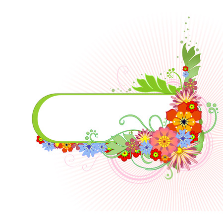 Vector illustraition of funky Abstract floral  border Stock Vector - 4703626