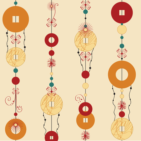Vector  Illustration of   Decorative Wind Chimes with authentic ornament design Stock Vector - 4703623
