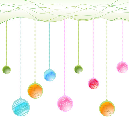 Vector Illustration of beautiful hanging balls. Vector