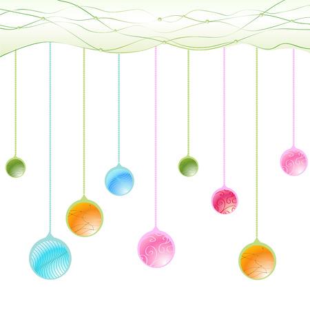 Vector Illustration of beautiful hanging balls. Vector