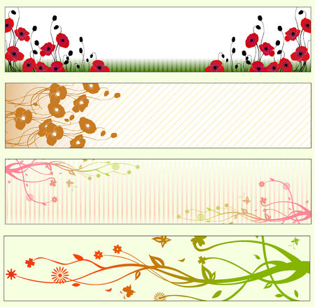 Vector illustration of  Beautiful floral Banners or Backgrounds Stock Vector - 4724836