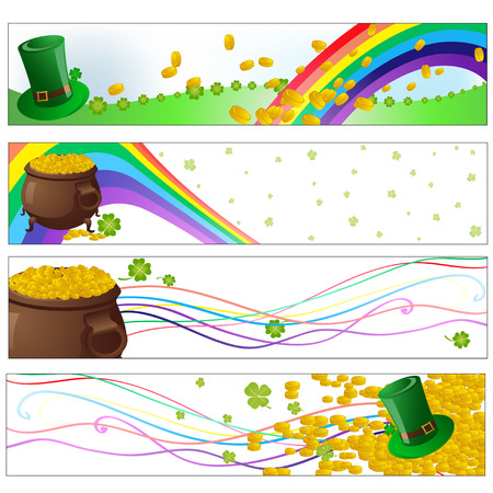 clover banners: Vector illustration of Colorful saint patrick day  party banners
