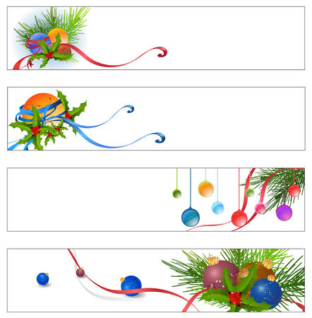 year greetings: Vector illustration of funky Colorful new yearchristmas party banners