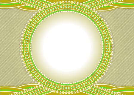 An elegant illustration design of circle frame for text or photos - blank so you can add your own images. Vector illustration. Vector