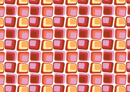Vector illustraition of  Red Retro styled Abstract  background made of  Candy Squares  Vector