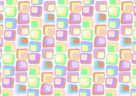 Vector illustraition of  Retro styled Abstract  background made of  Candy Squares
