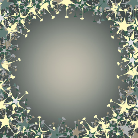 national holiday: Vector illustration of  frame made  of funky  stars  shape.