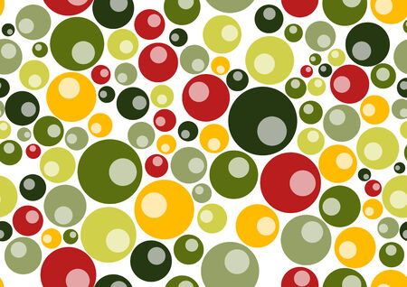 Vector illustration of retro  pattern  background  made up of many circle shapes.  Vector