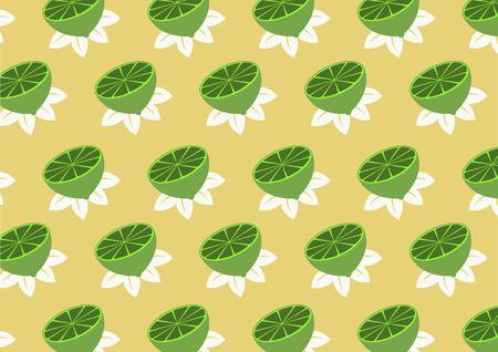 citrus tree: Vector ilustraci�n de patr�n de funky limones en el fondo beige