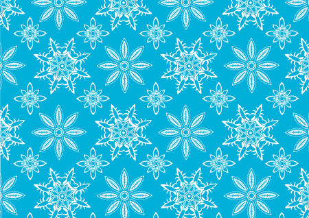Vector illustration of  Blue snowflake pattern . Winter season  design element that can be used as background Stock Vector - 4874287