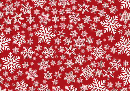 Vector illustration of  Background with snowflakes for your design in red color Vector