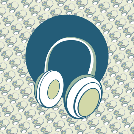 head phones: Vector illustration of  head - phones background. Illustration