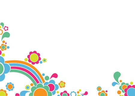 Ilustración vectorial de retro infantil Antecedentes