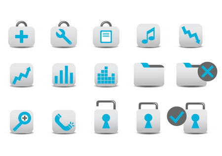 Vector illustration of different Professional icons. You canuse it for your website, application, or presentation Vector