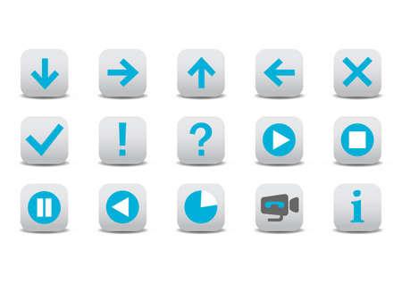 Vector illustration of different web icons Vector