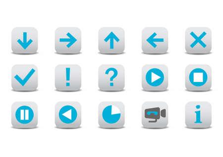 backwards: Vector illustration of different web icons Illustration