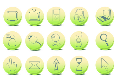 Vector illustration of different  Website and Internet icons  Vector
