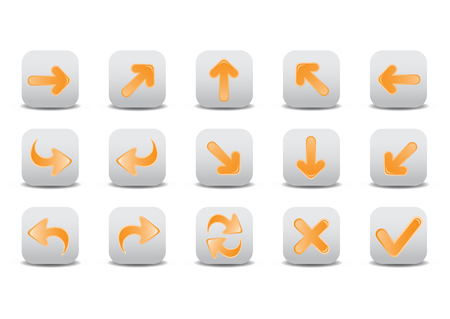 Vector illustration of different arrow icons. You can use it for your website, application, or presentation Vector