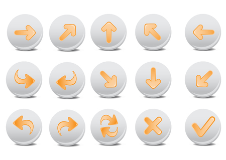 Vector illustration of different arrow buttons. You can use it for your website, application, or presentation Stock Vector - 4892191