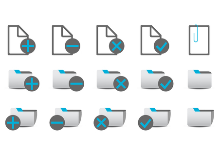 managment: Vector illustration of different database managment icons. You can use it for your website, application, or presentation Illustration