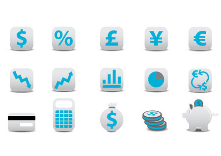 Vector illustration of financial icons. You can use it for your website, application, or presentation Vector