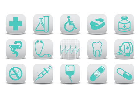 Vector illustration of medecine icons .You can use it for your website, application or presentation Vector