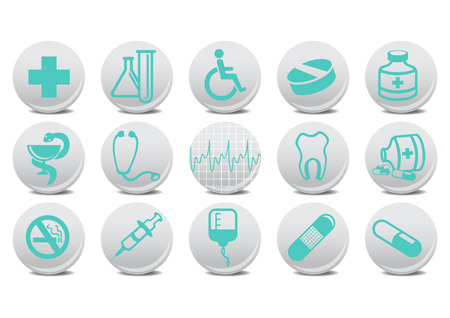Vector illustration of medecine buttons .You can use it for your website, application or presentation Vector