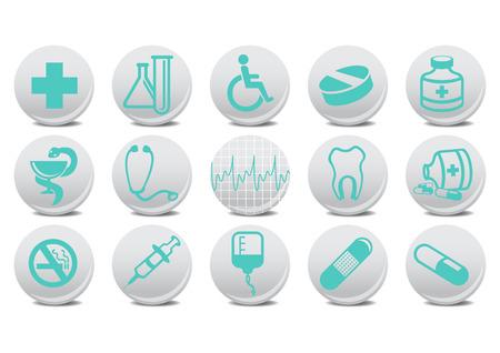 medecine: Vector illustration of medecine buttons .You can use it for your website, application or presentation
