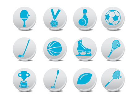 relating: Vector illustration of  icon set or design elements relating to sports