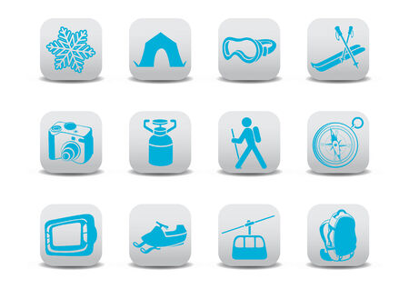 Vector illustration of winter campingski icons .You can use it for your website, application or presentation Vector