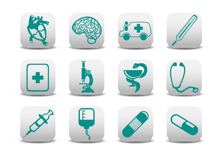 medicine icons: Vector illustration of medicine icons .You can use it for your website, application or presentation