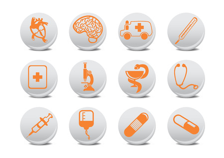 Vector illustration of medicine icons .You can use it for your website, application or presentation Vector