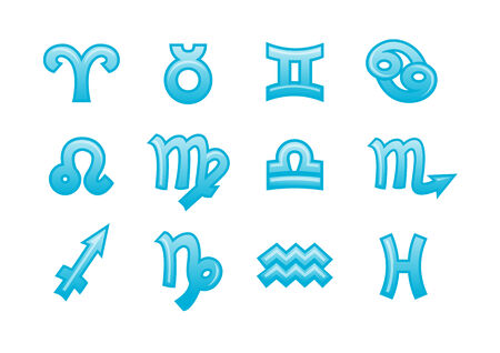 Vector illustration of zodiac signs .You can use it for your website, application or presentation Vector
