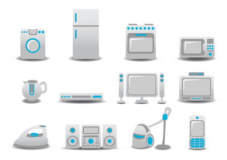 Vector illustration of Household Appliances icons. You can decorate your website, application or presentation with it. Vector