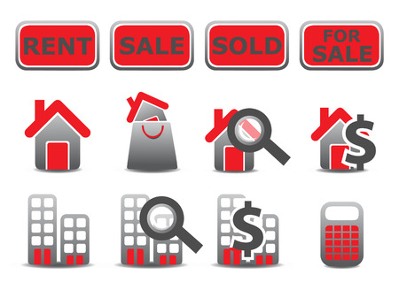 Vector illustration of real estate icons set.You can use it for your website, application or presentation Vector