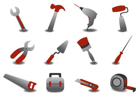 repairing: Vector illustration of professional repairing tools icons. Illustration