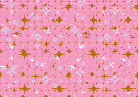 Vector illustration of pink stars  retro abstract  Background.  Vector