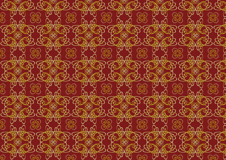 illustraition: Vector illustraition of red  retro abstract Swirl Pattern background