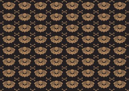 Vector illustraition of skulls abstract background. Vector