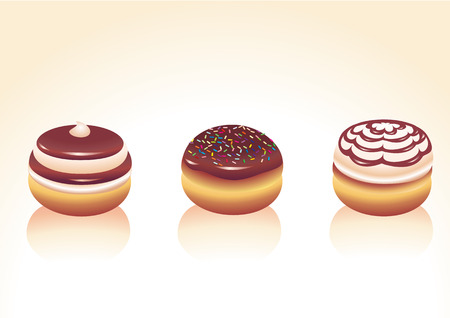 Vector illustration of different kinds donut icons. Good for funny greeting cards Vector
