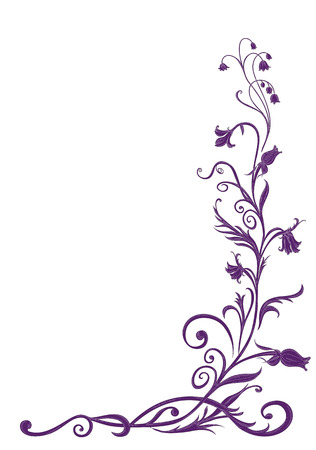Vector Illuctration of floral pattern  . Design elements of  Decorative ornament.