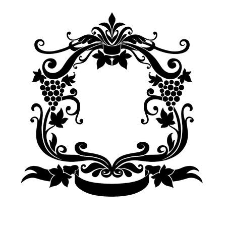 Vector Illuctration de cadre d�coratif avec ornement floral