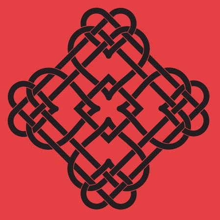 Vector Illustration of Celtic Knot Motif Vector