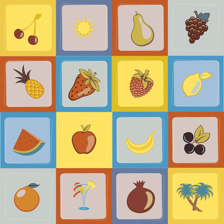 Vector Illustration of Seamless sweet and juicily Fruit Background Stock Vector - 5051392