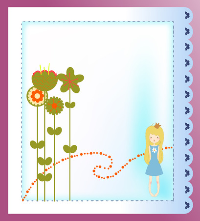 Vector Illustration of retro design greeting card Stock Vector - 5242854