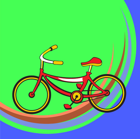 Vector illustration of Transport Cartoon. Little funny bicycle. Vector