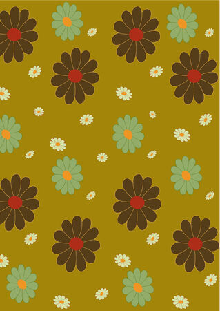 illustraition: Vector illustraition of retro abstract floral  Pattern background