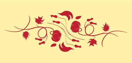 illustraition: Vector illustraition of retro abstract floral swirl background