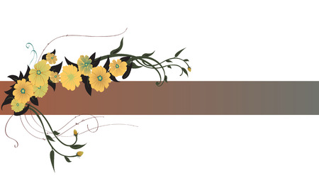 illustraition: Vector illustraition of elegant floral border