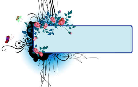 illustraition: Vector illustraition of elegant floral frame
